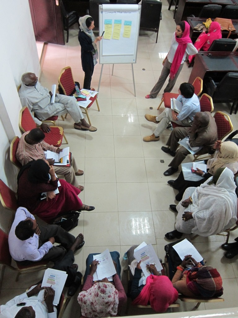 Sakiko leading a planning workshop in Sudan.