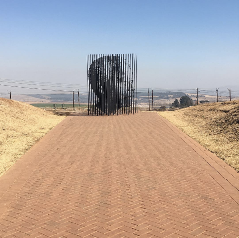 The monument marking Nelson Mandela's capture site in the South African province of KwaZulu-Natal.