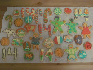 Exhibit C. Method of procrastination: baking cookies, spending a lot of time decorating  cookies, and then eating cookies!