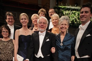 """Thomas A. Steitz with his wife, Joan Argetsinger Steitz, family and colleagues, after the Nobel Prize Award Ceremony in Stockholm. Copyright © The Nobel Foundation 2009 Photo: Frida Westholm"""