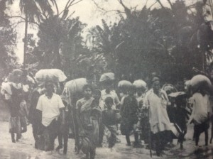 Refugees crossing the border from then East Pakistan to India.