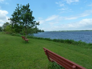 Benches near the Recreation Centre at Kanatakon