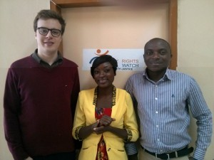 Collègues et moi au local de Disability Rights Watch