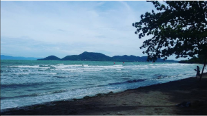 The beach on Rabbit Island near Kep