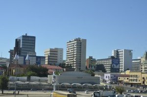 The downtown core of Windhoek.