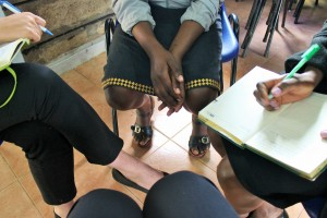 This picture was taken during our meeting with this brave survivor who wants to become a lawyer!