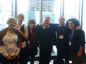Elise, Erin, Carol, Mike, and Gretchen with Mi'gmaq linguist Bernie Francis (center)