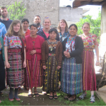 Louisa, front second-from-left, with Kaqchikel teachers and classmates