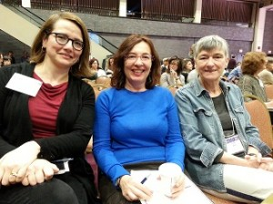 Elena Valenzuela(PhD'05), Roumyana Slabakova (PhD'97) and Lydia White
