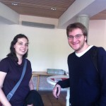 Hadas (postdoc) and Aron (BA 2011)