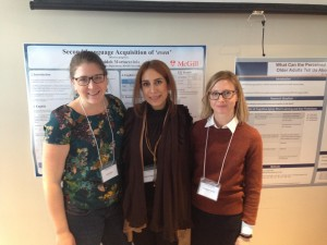 Liz, Sepideh, and recent McGill post-doc Meg Grant at Psychoshorts
