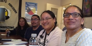 Carla, Carolyn, Rudy and Clara from the Anishinabe Team