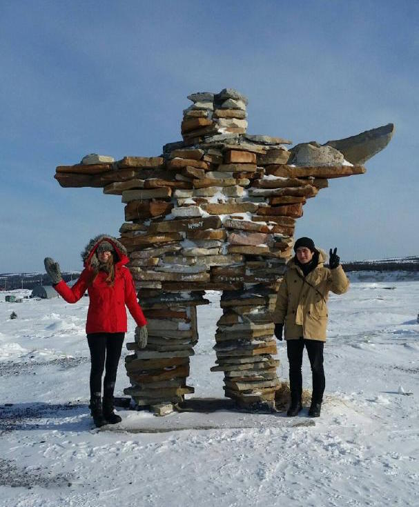 Amanda and Eli at the inuksuk
