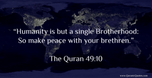 Humanity is one brotherhood