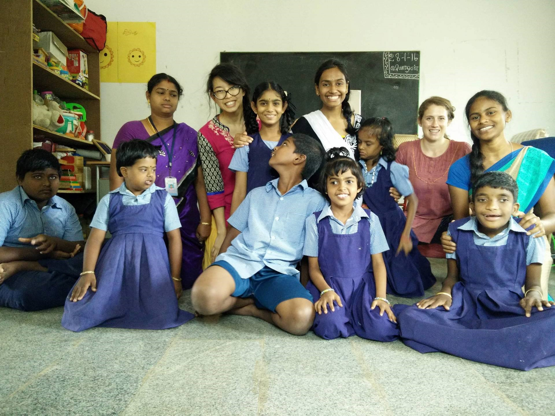 students-at-fieldwork-India